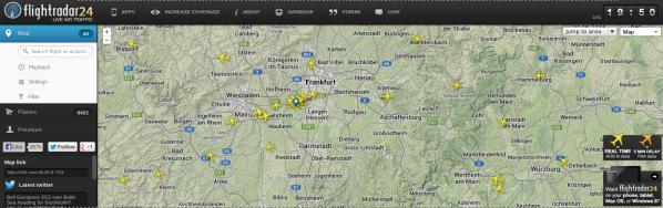 Flightradar24 Frankfurt Flughafen