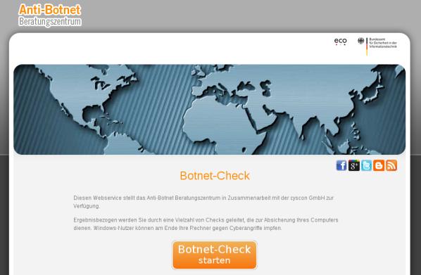 Botnet-Check Startseite